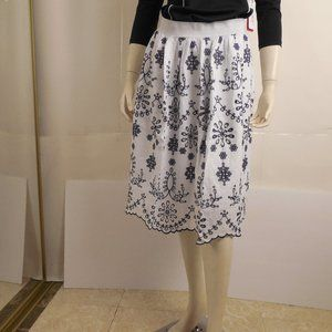 GIULIA ROSI Made In Italy Embroidered Skirt